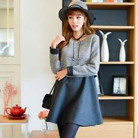 Hàng nhập_Đầm xòe giả 2 lớp thời trang_Phong cách Hàn Quốc_D23