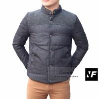 Áo khoác jean nam lông vũ xuất khẩu cao cấp D.i.e.s.e.l màu đen