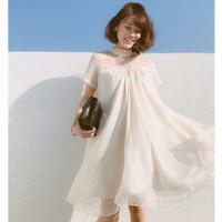 đầm suông form rộng phối voan lụa Sweety Dress