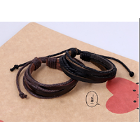 Vòng da,lắc tay handmade-T19