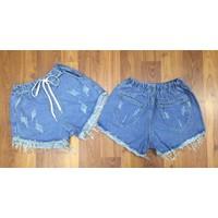 Quần short jean nữ lưng thun W30680
