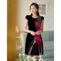 Đầm 3D Hoa Ly Đỏ Cao Cấp TP155-450