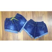 Quần short jean nữ lưng  thun  W36820