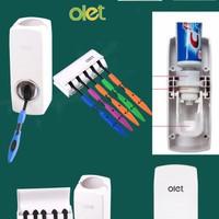 Dụng cụ nặn kem và treo bàn chải đánh răng tự động Olet A_N Shop