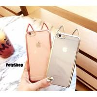 Ốp viền ánh tai thỏ iPhone 6 6S 6Plus 6S Plus 7 7Plus