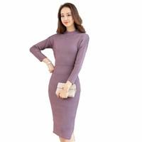 Váy len dài liền thân thời trang naza V21tim