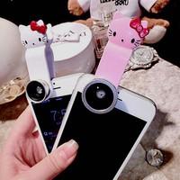 Bộ Lens Kitty 3in1 cao cấp - ống kính chất liệu sapia