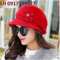 Mũ nón len nữ rộng vành nón bere cao cấp L12NB2