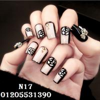 Bộ 24 Nail Dán Siêu Xinh + Keo Dán N17