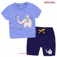 Bộ bé trai cá tính in voi cho bé yêu từ 1-8 tuổi