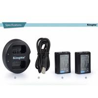 Bộ 2 pin sạc cho máy ảnh Sony chính hãng Kingma