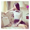 SuSu Shop - Set áo ren kèm chân váy xếp ly - SSH377