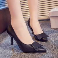 Giày cao gót nơ viền chỉ - LN786