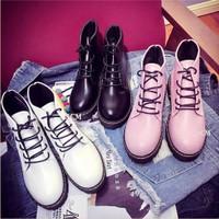 Giày boot trơn đế Dr