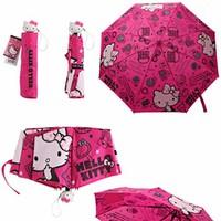 Dù đi mưa Hello Kitty