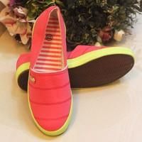 Giày Lười Nữ Hồng dạ quang