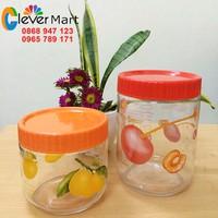 Bộ 2 hũ thuỷ tinh Storage Jar đựng gia vị nhà bếp 750ml