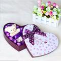 Quà tặng - Hộp hoa hồng sáp thơm 18 bông và gấu