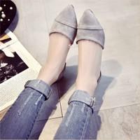 Giày sandal xếp hở eo