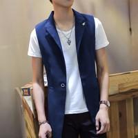 áo khoác ghilê blazer nam Mã: NK0933 - XANH ĐẬM