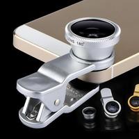 Ống kính 3 IN 1 cho iPhone-Len macro, fish eye, góc rộng