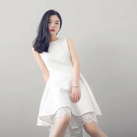 Đầm Xòe Chân Ren