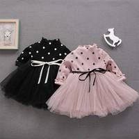 Váy chấm bi lót nhung cho bé gái
