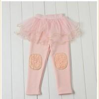 Chân váy quần legging hồng cho bé gái