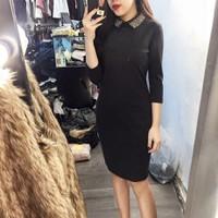 đầm ôm nhẹ dáng suông cực đẹp Peppum Dress