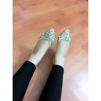 HÀNG NHẬP LOẠI I giày ️búp bê Bít xẹp đế cong