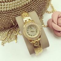 Đồng hồ nữ mini mặt đính hột