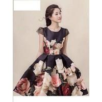 Đầm dạ hội in hoa - 6594.DZO