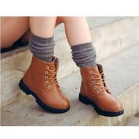 Giày trẻ em combat boot da trơn