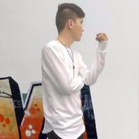 áo thun longtee vạt bầu tay dài xỏ ngón