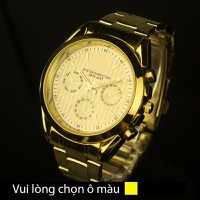 Đồng hồ 6 kim vỏ vàng kim dạ quang RL04