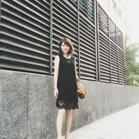Đầm Suông Chân Ren