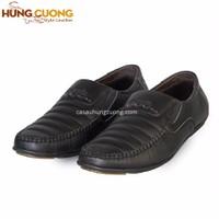 Giày lười da bò Hùng Cường màu đen HC1202