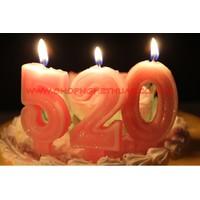 Nến sinh nhật số màu hồng