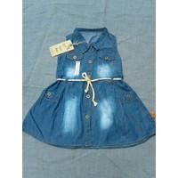 Bộ 2 Đầm Jean Baby phối dây cho bé từ 1-3 tuổi