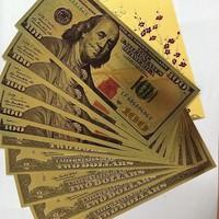 Tiền đô mạ vàng 2 USD và 100 USD