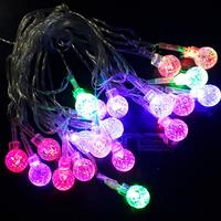 Dây đèn nháy 7 màu hình quả cầu sinh động
