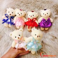 Móc khóa gấu bông cô dâu 12cm - candyshop88.com