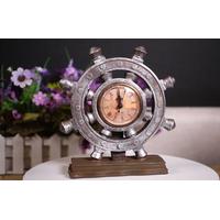 Đồng hồ để bàn bánh lái tàu quà tặng trang trí độc đáo DHL-01