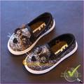 Hàng nhập - Giày bé gái đẹp đính kim sa hình chuột GLG033-Den