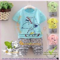 Bộ quần áo bé trai | Bộ quần áo bé gái mùa hè GLSET025
