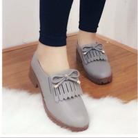 giày oxford thắt nơ tua rua 1526