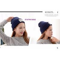 nón mũ len nữ logo thời trang mới