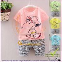 Hàng nhập - Bộ quần áo bé gái | Bộ quần áo bé trai mùa hè GLSET025