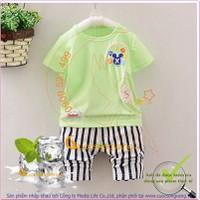 Hàng nhập-Bộ quần áo bé trai mùa hè GLSET029