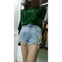 short jean katun xanh nhạt